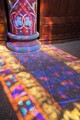 Reflection of stained glass
