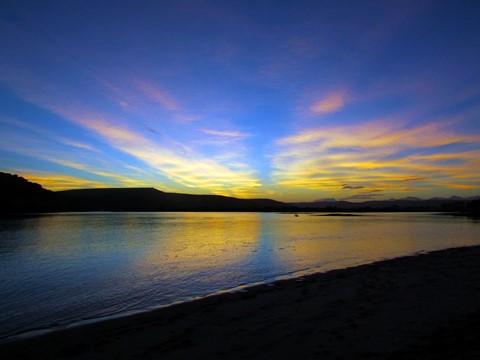 Sunset Little Brakriver mouth South Afica