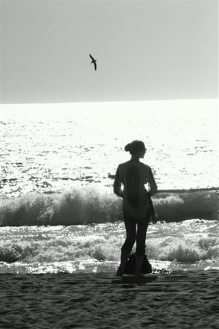 Jen Surf Silhouette