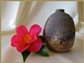 Camellia, Vase & Silk