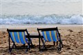 Beach seats in the early morning