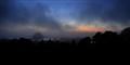 Morro Bay CA Fog at Sunset
