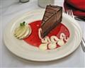Dutch chocolate cake dessert.