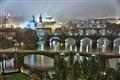 Misty Prague night