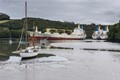 Aground on the River Fal