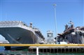 Aircraft carrier San Diego pier