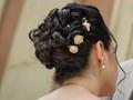 Hairdo of a bride