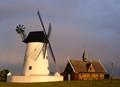 Lytham Windmill & raiunbow