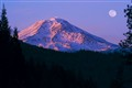 Moonrise over Mount Shasta