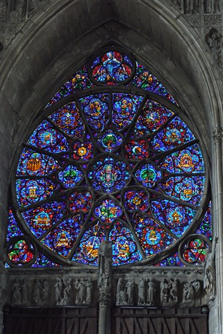 Reims Cathedral Round Window