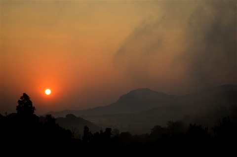 Sunset at Bhandardara Nasik, Maharashtra, India
