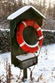 Lifebuoy in the snow