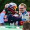 Jari-Matti Latvala chats with Juho Hänninen while the latter gets ready for the ADAC Rally Deutschland shakedown stage.