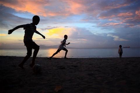 Football on the beach (1 of 1)
