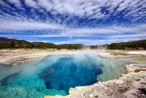 Blue Sapphire Pool, Yellowstone National Park