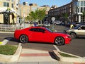 Red Camaro at the Intersection