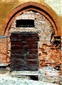 Red brick door
