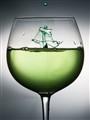 Drop in a glass