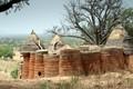 Village at the border between Togo and Burkina