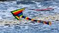 Kite above the North Sea