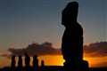 moai at sunset - Easter Island