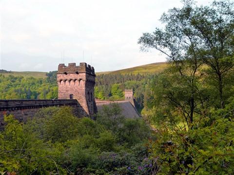 Derwent dam turrets