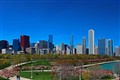 Chicago Skyline in Spring