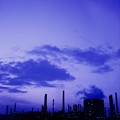Refinery in blue hour