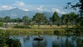 The Annapuran Range as seen from the Fish Tail Lodge in Pokhara, Nepal