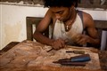 Sculpting Wood in Sri Lanka