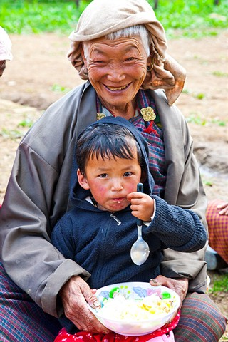 Proud Bhutanese grandmother