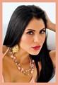 glamorous hispanic lady with black hair