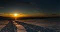 Sunset On The Glacier