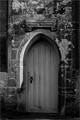 The north door of the old church in Rosedale Abbey, North Yorkshire