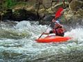 Kayaking in whitewaters