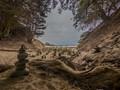Pheifer Beach Cairns to mark the way