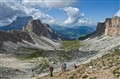 Trekking in the Dolomites - Ascending Passo Crespina (2,530 m)