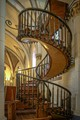 Loretta Chapel, Santa Fe, New Mexico. The staircase has two 360 degree turns and no visible means of support. The staircase was built without nails—only wooden pegs.