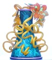 Chihuly vase (with flowers)