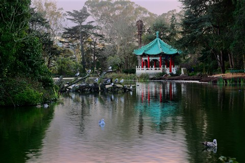 Chinese Pavillon at Stow Lake