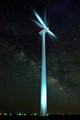 Wind Turbine and Milky Way