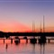 Sunset along the river in Noosa