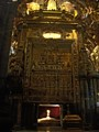 Relics of Saint James the Greater in cathedral of Santiago de Compostela