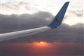 Sunset on the plane