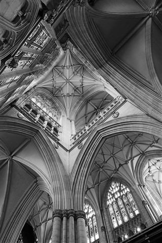 North Aisle Vaults 002 B&W