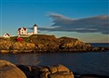 nubble light at sunset-2