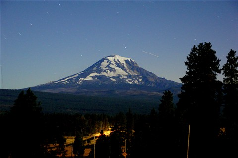 mt adams at night