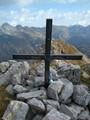 Summit cross of Cellon at the Austrian-Italian border