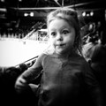 With my grandaughter at the hockey game