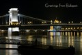 Night over the Danube river